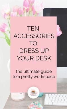 10 Desk Accessories to Dress Up Your Desk - we all need a pretty workspace and here are some great accessories to get you there! desk decor for work cubicle 10 Accessories to Dress Up Your Desk — pearls & lattes Office Desk Organization, Desk Office, Office Spaces, Organization Ideas, Office Chairs, Workspace Desk, Organized Office, Blue Office, Office Setup