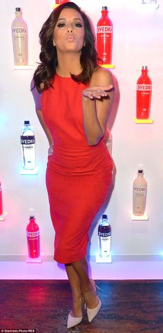 Fun times: Eva Longoria was spotted out on Wednesday night having a blast at Svedka Vodka'...