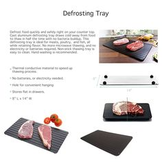Amazon.com: Imperial Home Fast Defrosting Tray - The Safest Way to Defrost Meat or Frozen Food Quickly Without Electricity, Microwave, Hot Water or Any Other Tools: Kitchen & Dining