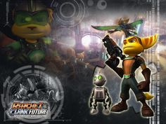 Ratchet and Clank Wallpaper; I wish I could play the Future games
