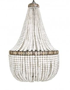 White Turquoise Empire Chandelier   MarjorieMarjorie I must have this!