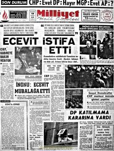 Milliyet gazetesi 22 mart 1971 Newspaper Headlines, Old Newspaper, Turkey History, Nostalgia