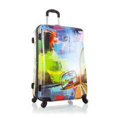 """Heys Cruise 30"""" Luggage Suitcase Road Trip Hardcase Patterned TSA Spinner"""