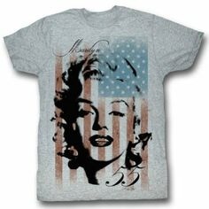 Marilyn - Mens Marilyn Flag T-Shirt Marilyn Monroe T Shirts, Female Stars, Color Show, Tee Shirts, Flag, T Shirts For Women, My Style, Mens Tops, Animal Rescue