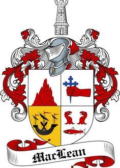 MACLEAN FAMILY CREST - COAT OF ARMS gifts at www.4crests.com