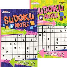 Sudoku Puzzle Books, 96 Pages (Set of 2)