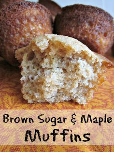 Simple muffin recipe using whole food ingredients for delicious Brown Sugar Maple Muffins, perfect for an afterschool snack or lunchbox treat.