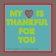 Thankful for you print