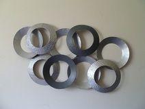 Fresh Wanddschmuck Metall Silber