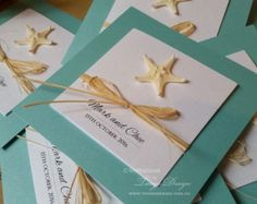 BEACH Wedding Invitations with bling starfish & RSVP card in a suite. Perfect for elegant destination weddings celebrated by the sea or birthday celebrations with a beach theme. ORDERING IS EASY: 1) ❤ ADD US TO YOU FAVOURITE PRODUCTS for later. You will find a ❤ straight under the green bar with add to the cart, on the right or just above the main photo. Click the ❤ to add our shop and find us later)  2) ADD 1 to the CART using the button on the right menu one and 3) you will receive 24…