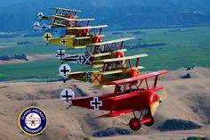 Seven Fokker Triplanes