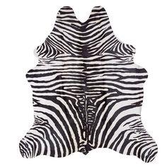 Zebra Printed Leather Rug - Rugs - Decoration | Zara Home Sverige / Sweden