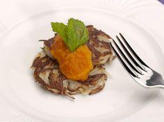 Latkes with Sweet Carrot Puree. #RudySodamin #Hanukkah