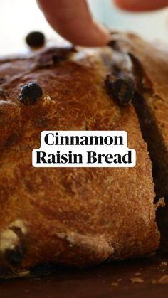 Dutch Oven Recipes, Fun Baking Recipes, Dessert Recipes, Cooking Recipes, Artisan Bread Recipes, Delicious Desserts, Yummy Food, Tasty, Cinnamon Raisin Bread