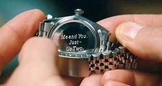 Me and You, Just Us Two * Great wedding gift to the groom's watch engraving ⌚ bridal  Toni Kami Wedding Hairstyles ♥ ❷ Wedding hairstyle ideas