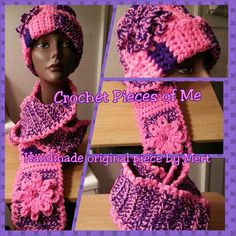 Purple and pink!!! This may be the crochet piece I love the most. Probably because this was my first one like this.
