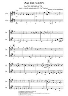 Over The Rainbow (from The Wizard Of Oz) for Violin Duet