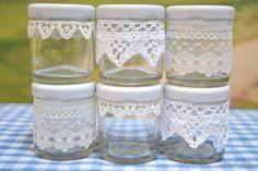 simple lace jars