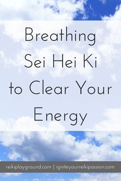 Breathing Sei Hei Ki to Clear Your Energy. Today's technique is breathing Sei Hei Ki to clear your energy. Why do you want to clear your energy? So that you're functioning at your highest potential. So that whatever is bothering you is sent out of your sy Holistic Healing, Natural Healing, Yoga Meditation, Healing Meditation, Angelic Reiki, Was Ist Reiki, Usui Reiki, Reiki Room, Learn Reiki