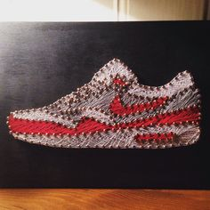 EatSleepDraw • A few of the custom string art sneaker pieces I've...