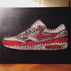 EatSleepDraw • A few of the custom string art sneaker pieces I've...