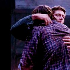 (6) Tumblr. The bottom left hug, something about the drag of Jared/Sam's hand along Jensen/Dean's side and back is really...powerful, maybe. I need fic about this.
