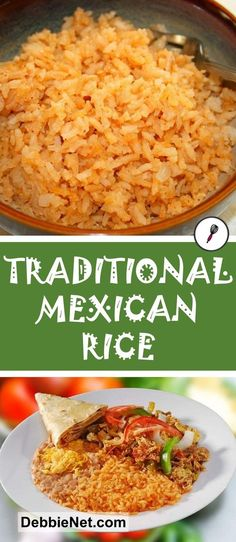 Traditional Mexican rice makes a great side dish with tacos, burritos or just ab. - Traditional Mexican rice makes a great side dish with tacos, burritos or just about any dish. Taco Side Dishes, Mexican Side Dishes, Mexican Rice Recipes, Rice Dishes, Food Dishes, Easy Mexican Rice, Side Dishes With Tacos, Sides With Tacos, Mexican Rice Recipe With Cooked Rice