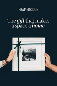 The perfect gift in 3 easy steps: Upload it. Design it. Gift it.