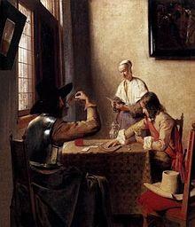 Pieter de Hooch - Giocatori di carte, 1657-1658, Royal Collection, Londra