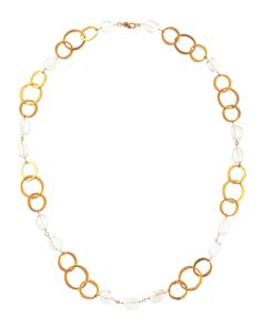 Kenneth Jay Lane Link and Crystal Necklace - Neiman Marcus Last Call