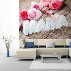 Fototapeta na ścianę - Pink roses | Photograph wallpaper - Pink roses | 100PLN #fototapeta #dekoracja_ściany #różowe_róże #mama #home_decor #interior_decor #photograph_wallpaper #wallpaper #pink_roses #mommy #mother
