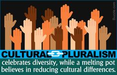 Difference between cultural pluralism and melting pot