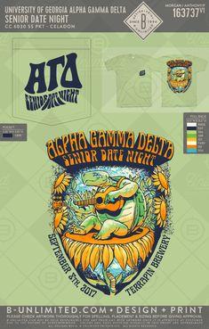 Alpha Gamma Delta senior date night! Trippy Shirts, Pi Kappa Alpha, Rush Shirts, Spring Date, University Of Delaware, Spring T Shirts, Fraternity Shirts, Greek Shirts, Sorority Life