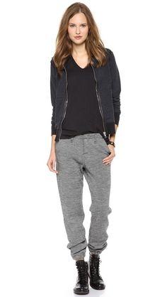 Rag & Bone/JEAN Houndstooth Pajama Trousers