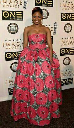 Belle of the Ball! Directress Nzingha Stewart rocked a pink princess gown for the festivities. African Print Dresses, African Print Fashion, Africa Fashion, African Wear, African Attire, African Women, African Dress, Fashion Prints, African Style