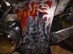 Motorcycle Art, Airbrush Art, Pinstriping, Custom Motorcycles, Kustom, Custom Paint, Guns, Bike, Future