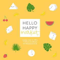 Summer is just around the corner and we are so excited for our next popup event at @hellohappymarket !! #hellohappyyyz