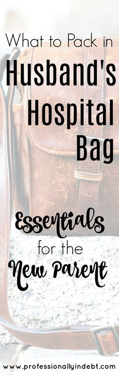 Are you preparing for the birth of your first child? It can be stressful preparing for the time when you have to go to the hospital. You have yourself and baby all packed for, but what should you bring for dad??....#baby #pregnancy #dadsbag #hospitalbag #husband