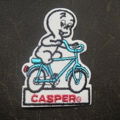 CASPER  bicycle patch NOS from old garage / bicycle store 92 x 65 mm  http://www.storenvy.com/products/12199629-casper-bicycle-patch-nos