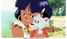 Nadia: The Secret of Blue Water Nadia and King Production Cel with Master Background and Animation Drawing (Gainax, c. 1990-91) The Secret, Auction, Animation, King, Drawings, Water, Anime, Blue, Art