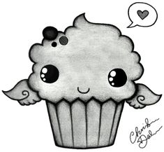 cute easy tumblr drawings | Cute cupcake by 47flowers