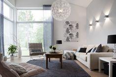 Lämmintä tunnelmaa olohuoneessa, lisää ideoita www.lammi-kivitalot.fi