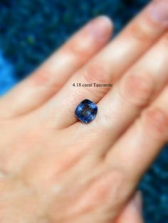 Cushion cut tanzanite. Available for a custom ring, or pendant? We do custom @aleamarico on Etsy