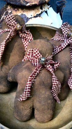 Primitive Folk Art Grubby Gingerbread Men