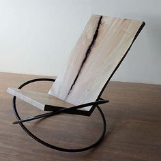 The Bascule Chair by designer Andre Joyau. – – The Bascule Chair by designer Andre Joyau. Iron Furniture, Steel Furniture, Funky Furniture, Recycled Furniture, Classic Furniture, Unique Furniture, Home Decor Furniture, Furniture Projects, Rustic Furniture