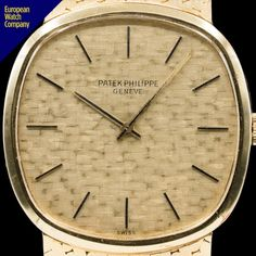 66a853df2f0 Patek Philippe 3544 Ellipse Champagne 18K Yellow Gold   Mesh Bracelet.   PatekPhilippe3544  Ellipse  Horology