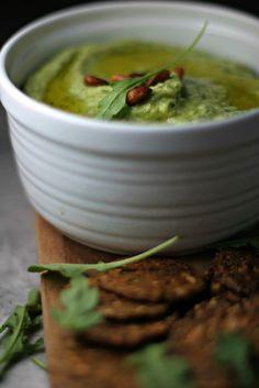 Avocado and Arugula White Bean Hummus ~vegan, gluten free~