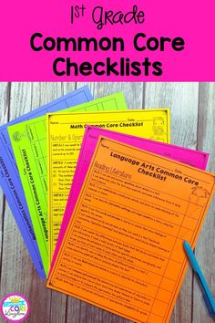 Checklists for all first grade Common Core State Standards. CCSS checklists and assessment recording sheets that are perfect for students and teacher data tracking and data notebooks. Common Core Reading, Common Core Math, Common Core Standards, Common Core Checklist, Student Data Tracking, Data Folders, Data Notebooks, Reading Assessment, Second Grade Math