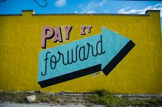 Bright and colorful urban mural in downtown St. Pete!
