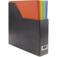 """the Paper Studio 12"""" x 12"""" Black KD Paper Holder   I might need some of these for my Scrapbook/craft room one day!"""